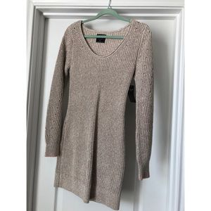 Brown/taupe sweater dress